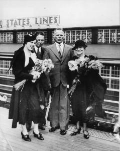 William E. Dodd con la famiglia all'arrivo ad Amburgo